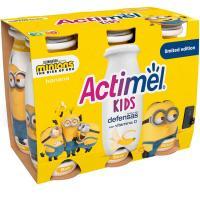 Bebible líquido de plátano ACTIMEL, pack 6x100 ml