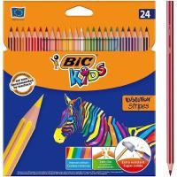 Lápices de colores surtidos Kids Evolution Stripes BIC, Pack 24 uds