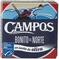 Bonito del Norte MSC en aceite de oliva CAMPOS, lata 80 g