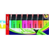 Marcador fluorescente, colores surtidos Neon Boss STABILO, Pack 8 uds