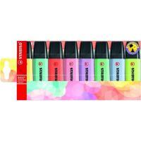 Marcador fluorescente, colores surtidos pastel Boss STABILO, Pack 8 uds