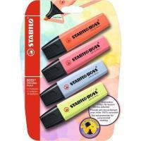 Marcador fluorescente, colores surtidos pastel Boss STABILO, Pack 4 uds