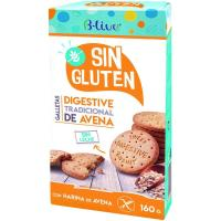 Galleta Digestive de avena sin gluten B-LIVE, caja 160 g