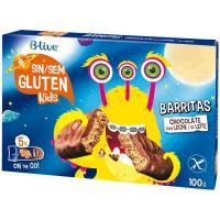 Barrita de chocolate con leche sin gluten B-LIVE, caja 100 g