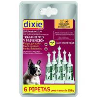 Pipetas permetrina para perro pequeño DIXIE, pack 6 uds.