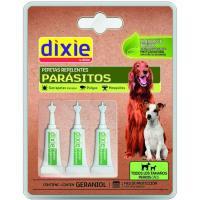 Pipetas repelentes con geraniol para perro DIXIE, pack 3 uds.