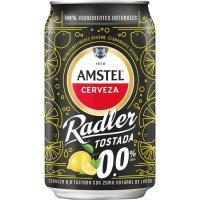 Cerveza 0.0 tostada AMSTEL RADLER, lata 33 cl