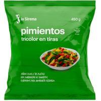 Pimiento tricolor LA SIRENA, bolsa 450 g
