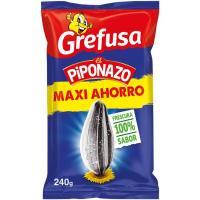 Pipas con sal sabor original PIPONAZO, bolsa 240 g