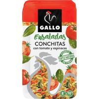 Pasta conchitas vegetales GALLO, paquete 450 g