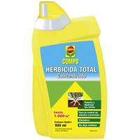 Herbicida total concentrado COMPO, botella 500 ml