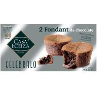 Fondant de chocolate Celébralo CASA ECEIZA, pack 2x100 g