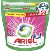 Detergente en càpsulas sensaciòn ARIEL, bolsa 50 dosis