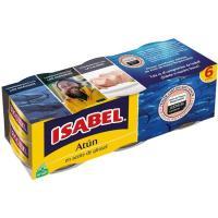Atun en aceite de girasol ISABEL, pack 6x70 g