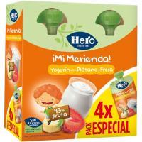 Bolsita de yogur-plátano-fresa HERO pack 4x100 g