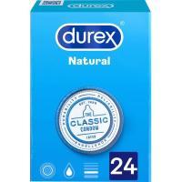 Preservativos natural plus DUREX, caja 24 uds.