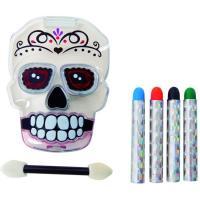 Kit maquillaje día de los muertos, caja calavera, 1 ud
