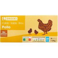 Caldo de pollo EROSKI, 24 pastillas, caja 216 g