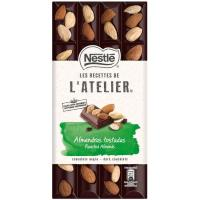 Chocolate negro-almendras NESTLÉ L`Atelier, tableta 170 g