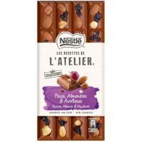 Choco leche-pasas-avella-almen NESTLÉ L`Atelier, tableta 170 g