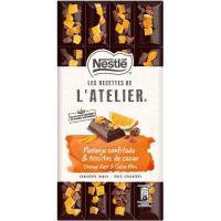 Choco negro naranja-cacao NESTLÉ L`Atelier, tableta 170 g