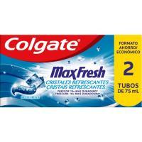 Dentífrico duplo COLGATE Max Fresh, pack 2x75 ml