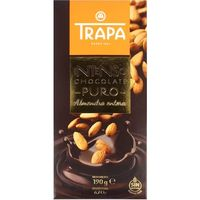 Chocolate intenso puro c/ almendras enteras TRAPA, tableta 190 g