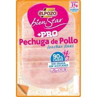 Pechuga de pollo sin grasa EL POZO Bienestar+Pro, bandeja 130 g