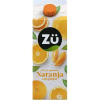 Zumo de naranja con pulpa ZÜ, brik 1,75 litros