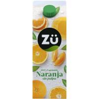 Zumo de naranja sin pulpa ZU, brik 1,75 litros