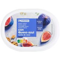 Queso crema con queso azul EROSKI, tarrina 150 g