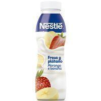 Yogur líquido de fresa-plátano NESTLÉ, botella 350 g