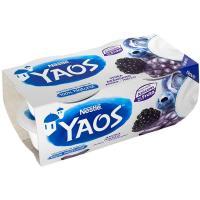 Yogur griego de mora&arándano YAOS, pack 4x110 g