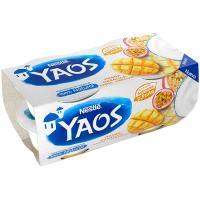 Yogur griego de mango-maracuyá YAOS, pack 4x110 g