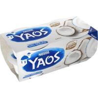 Yogur griego de coco YAOS, pack 4x110 g