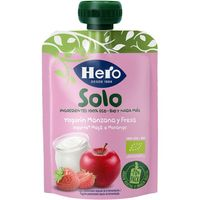 Bolsita eco de yogur-manzana-fresa HERO, doypack 100 g