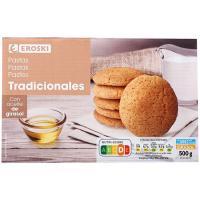 Pastas tradicionales sin palma EROSKI, caja 500 g