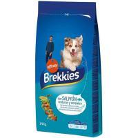 Alimento de salmón para perro BREKKIES, saco 14 kg