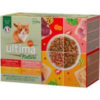 Alimento para gato de carne ULTIMA Nature, pack 12x85 g