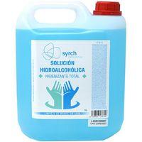 Solución hidroalcohólica 70% alcohol, manos y superficies SYRCH, garrafa 5 litros