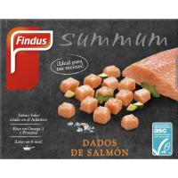 Dados de salmón ASC FINDUS, caja 180 g