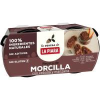 Crema de morcilla LA PIARA, pack 2x75 g