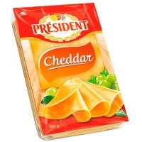 Queso Cheddar PRESIDENT, lonchas, bandeja 100 g
