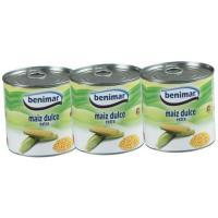 Maíz dulce BENIMAR, pack 3x140 g