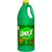Detergente lejía pino UNEX, garrafa 2 litros