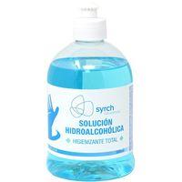 Solución hidroalcohólica para manos, 70% de alcohol SYRCH, bote 500 ml