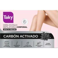 Cera divina depilatoria carbón activado TAKY, tarro 300 ml