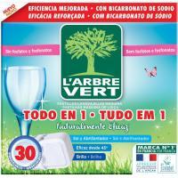 Lavavajillas máquina eco L'ARBRE VERT, caja 30 dosis