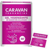 Gel hidroalcohólico de manos en monodosis CARAVAN, caja 10 uds.
