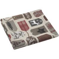Mantel Navidad, 70% algodón - 30% poliéster, 140x140 cm
